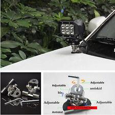 2 Pcs Car Offroad LED Work Lamp light Mount Bracket Holder 304 Stainless Steel