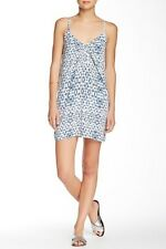 Eight Sixty Women's Blue White V Cami Dress Sz Large $118 *i518