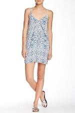 Eight Sixty Women's Blue White V Cami Dress Sz Large $118 *i518