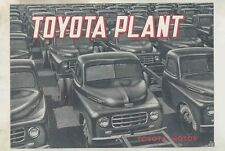 1953 Toyota Toyopet Sedan Pickup Bus Truck Factory Assembly Line Brochure wv2056