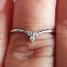 .925 Sterling Silver Ring CZ Midi V Chevron Ladies size 4-12 Knuckle Thumb New