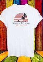 Amity Island Welcomes You Jaws Retro Movie 70's 80's Men Women Unisex T-shirt 29