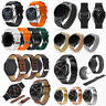 22mm Stainless /Leather Wrist Band Strap For Samsung Gear S3 Classic/Frontier