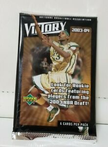 2003-04 NBA UPPER DECK VICTORY BASKETBALL One Sealed Pack Possible Lebron RC!!