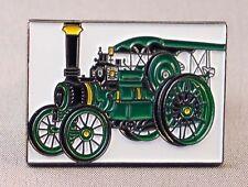 TRACTION ENGINE - LAPEL PIN BADGE - STEAM POWERED ENGINES LOCOMOTIVE   (LK-12)