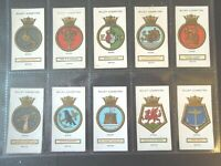 1925 Wills Royal UK Navy Ships Badges Tobacco cards complete VG-EX 50 card set