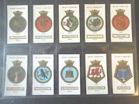 1925 Wills Royal UK Navy Ships Badges Tobacco cards complete VG-EX 50 card set