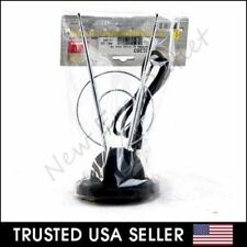Rabbit Ear TV Antenna for HDTV Plus UHF/VHF with Dual loop and 3FT Long Cable