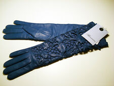 NWT**BLUMARINE**Lace-Like Gloves**Leather/ Cashmere**Size 7.5**over 600.00 EURO