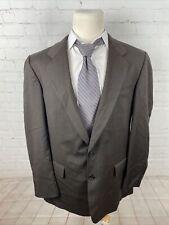 Joseph Feiss Men's Brown Blazer Striped Wool Blazer 46L $395