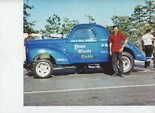 STONE WOODS COOK WITH DOUG STANDING BY CAR   8X10 DRAG RACING PHOTO