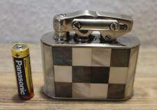 Vintage KW KARL WIEDEN Tischfeuerzeug-Germany Perlmutt  Benzinfeuerzeug Vintage.