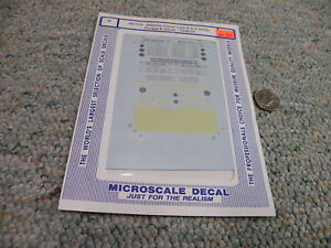 Microscale decals N 60-773 Atlantic Coast Line E F Units purple silver    G67