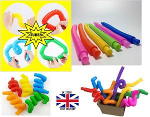 5X Fidget Pop Tube Stretch Pipe Toys Adults Kids Sensory Tools Stress Relief New