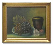 ELON JOHANSON / STILLIFE WITH GRAPES - Original Swedish Oil Painting