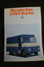 Ca 1972 Mercedes Benz L508D Step Van Brochure