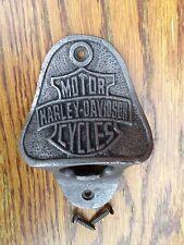 1 x BOTTLE OPENER HARLEY DAVIDSON CAST IRON WALL MOUNTED + FIXINGS ** FREE P&P**