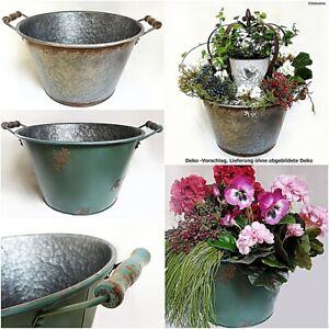 Metall / Zink Wanne 40 cm - Pflanzen Blumen Pflanz Topf Schale Wanne Kübel Gefäß