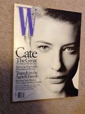W Fashion Magazine ~ January 2001 ~ Cate Blanchett Andy Worhol
