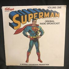 Superman Original Radio Broadcast Record LP 1974 Sealed Volume One