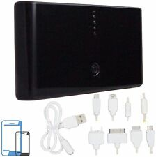 30000mAh Power Bank schwarz 2.1 A Tablets USB Ladegerät Smartphone Zusatzakku