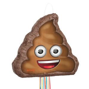 Poop Emoji Pinata, Pull String