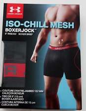 "UNDER ARMOUR UA Iso-Chill MESH 6"" Boxer Jock BOXER BRIEF 3XL Black NWT $25"