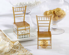 Gold Chiavari Gold Chair Wedding Bridal Shower Favor Boxes 24/pk