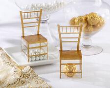 Gold Chiavari Gold Chair Wedding Bridal Shower Favor Boxes 24/pk