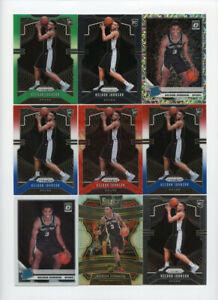 Lot of (9) Keldon Johnson Rookie Cards Prizm Donruss Optic Select ABC10273