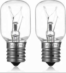 2Pack Light Bulb Whirlpool Microwave E17 Base 125V 40W Replace Part# 8206232A