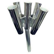 Tigress Five Rod Cluster-Bent Butt-Polished Aluminum #88157-2