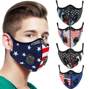 Unisex Flag Print American Face Mask Outdoor Mouth Mask Protection Mask