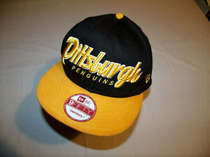 Pittsburgh Penguins Hat Spelled Out Logo New Era 9Fifty Snapback Blotchy Brim