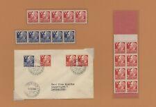 H80 Sweden 1946 Scott # 280 - 281+ 282a MNH stamps + booklet + FDC Alfred Nobel