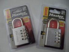 643DWD Master Lock 1-9//16in Wide Word Combination Padlock - 6-Pack