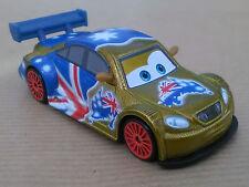 Disney Pixar Cars NEON FROSTY GOLD METALLIC Nuovo Sfuso quasi Perfetto. RARO !