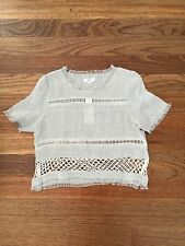 BNWT Elka Collective Maria Top Grey/ White Size AU8 US4 RRP$199.00