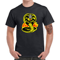 Cobra Kai Karate Men's T-Shirts Graphic Tees Cotton Short Sleeve Casual Boy Tops