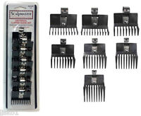 Clipper Blade comb guide set 7-pc. w-metal clip  Scalpmaster #SCG