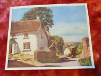 English Cottages - Vintage Print