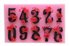 Stampo in Silicone Numeri Cuore Cifra Fondant Tortendekor Torta