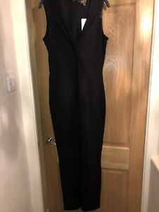 Lipsy Black Jumpsuit Size 14 Races Wedding Guest
