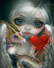 Jasmine Becket-Griffith art print heart fairy SIGNED A Dragonling Valentine