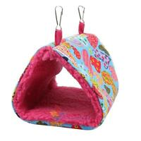Velvet Hammock for Rat Hamster Mouse Mice Bird Squirrel Hanging Bed Toy House A
