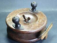 """Vintage Wooden Fishing Reel 5"""""""