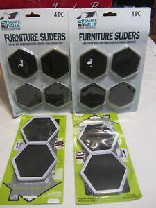 8 Pcs Furniture Sliders Pads Magic Movers Floor Protector for Wood Carpet Floor
