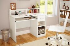 Desk For Girls Small Spaces White Teen Student Kids Writing Dorm w Hutch Table