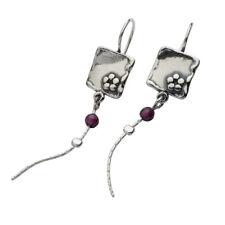 Original 925 Sterling Silver Earrings Garnet bordaux Didae Shablool