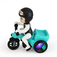 Electric Toy Scooter with Cartoon Boy - Bump and Go Action Sound &Light Up Wheel